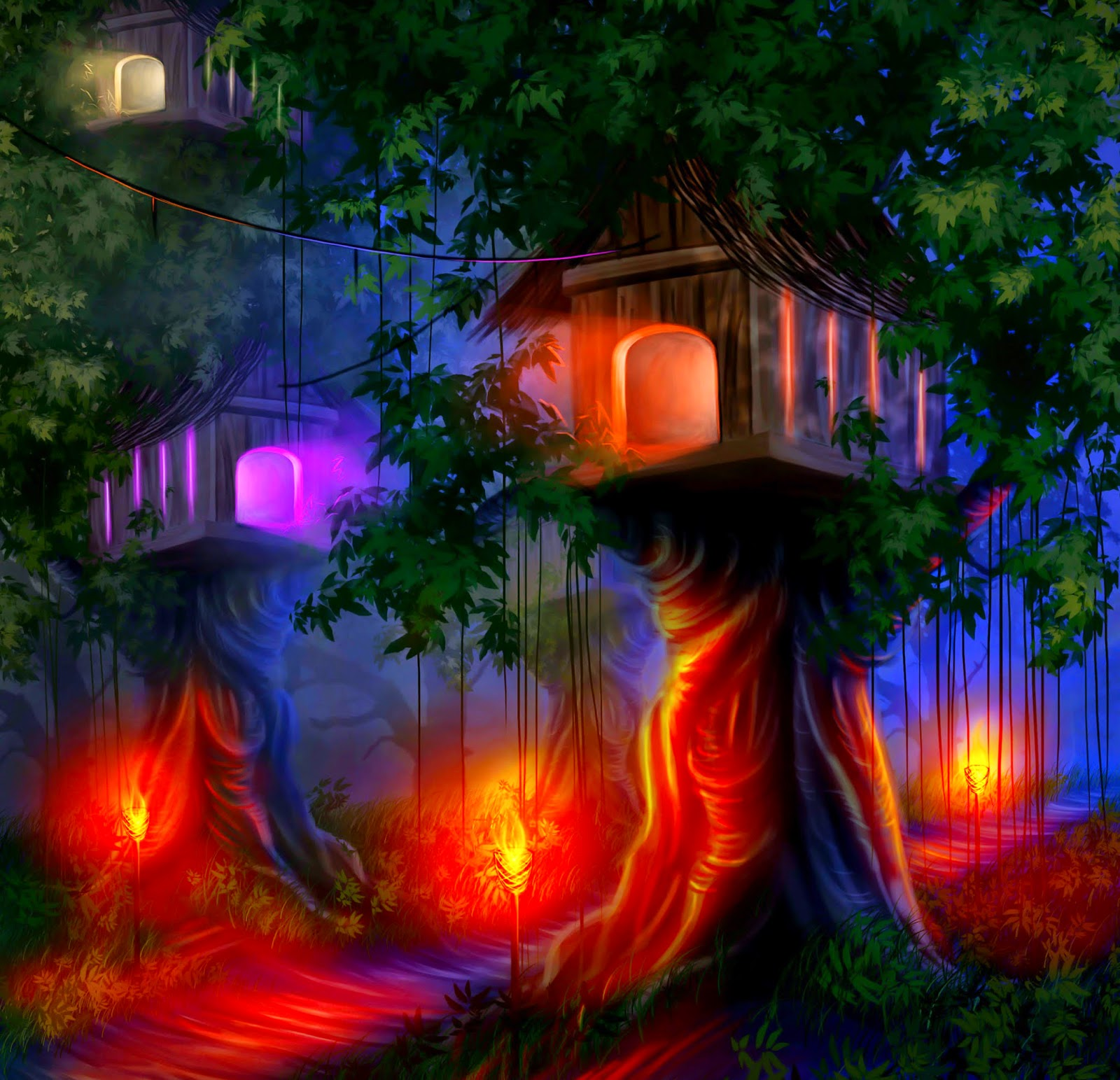 Glowing-tree-house-with-lights-at-night-graphics-image-2126x2050.jpg