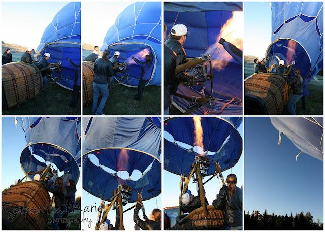 hot air balloon getting ready for flight