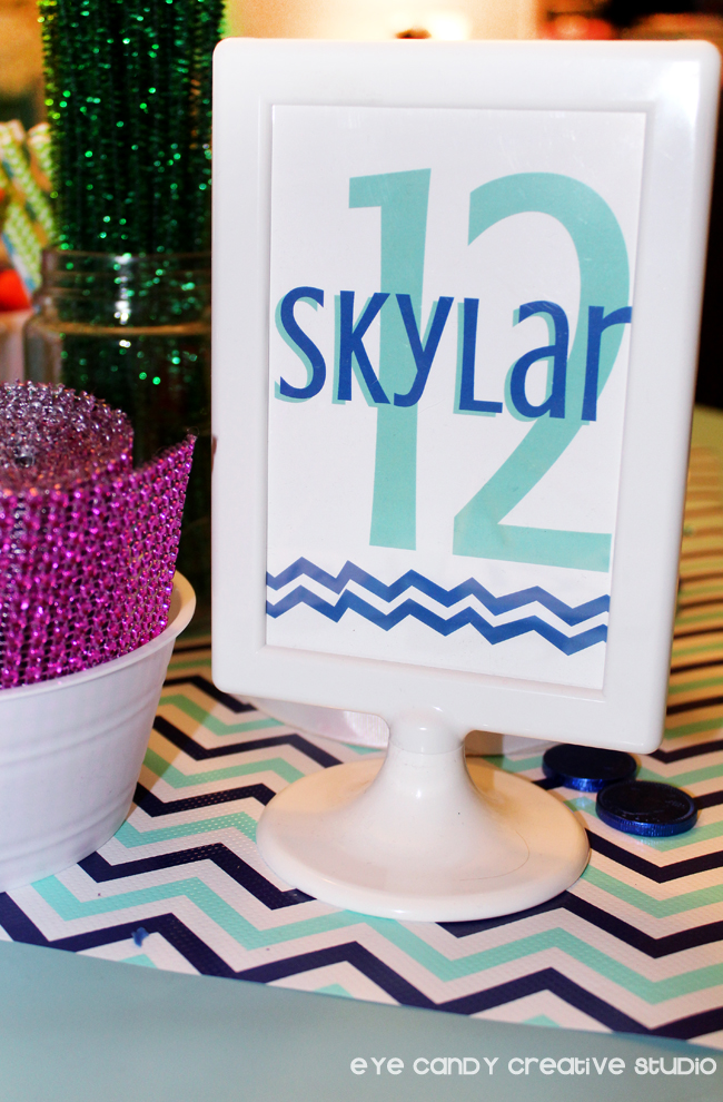 craft party signs, chevron, crafty birthday, craft supplies, getting crafty