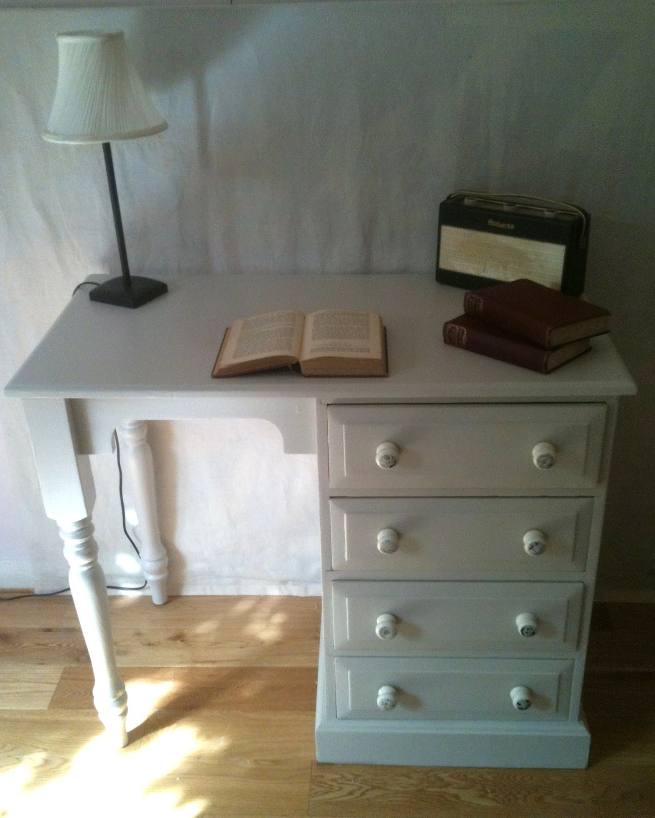 BowieBelle Vintage & Upcycled Furniture: Shabby Chic Desk #upcycled. Full resolution  photograph, nominally Width 1281 Height 1600 pixels, photograph with #8A7441.