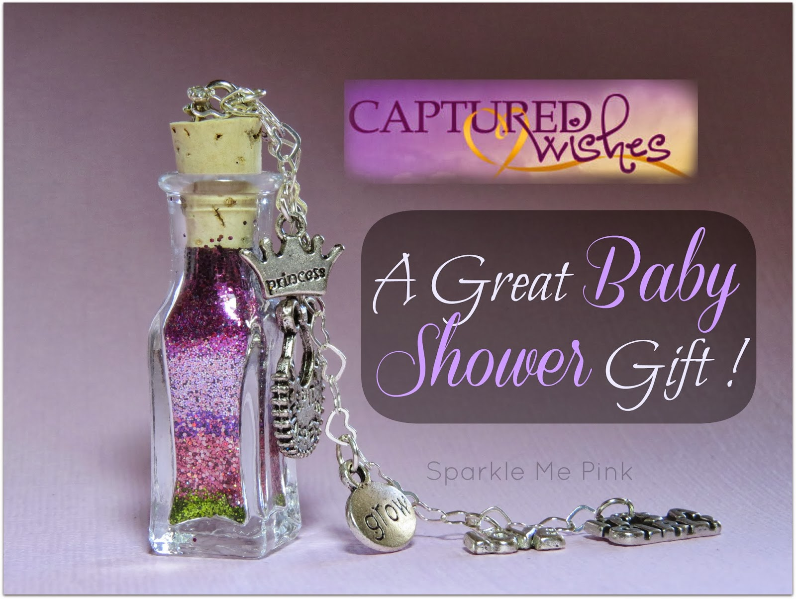 sparkle me pink captured wishes  gift for new baby review, Baby shower