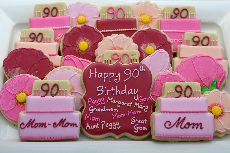 Jaclyn\'s Cookies: 90th birthday cookies
