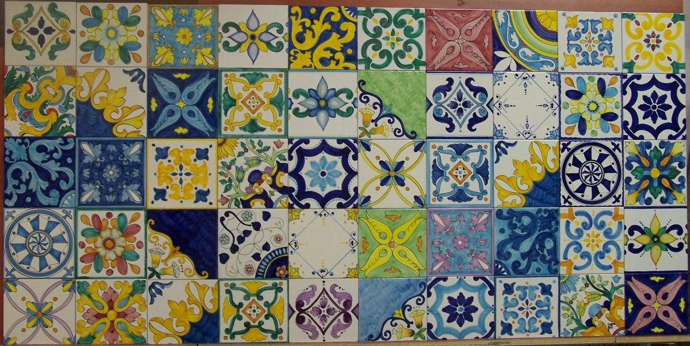 Piastrelle siciliane decorate
