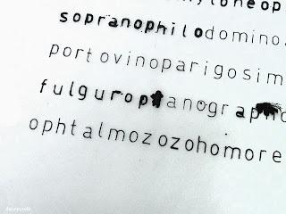 """Daisycode - Série """"Pododéco"""" exposition Gallering 2012 - Peinture et expérimentations typographiques"""
