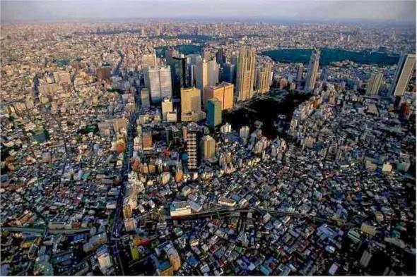 jepang duduk di bagian atas sebagai daerah metropolitan terbesar di