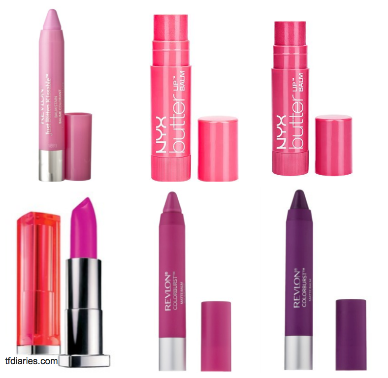 pink and purple lip color under $10