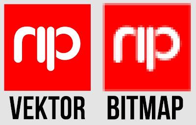 perbedaan bitmap dan vektor notepedia