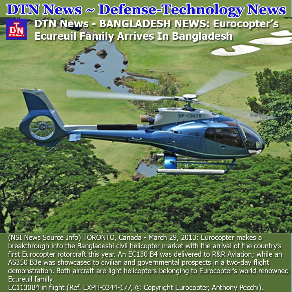 DefenseTechnology News DTN News  BANGLADESH NEWS Eurocopters Ecureuil Fa