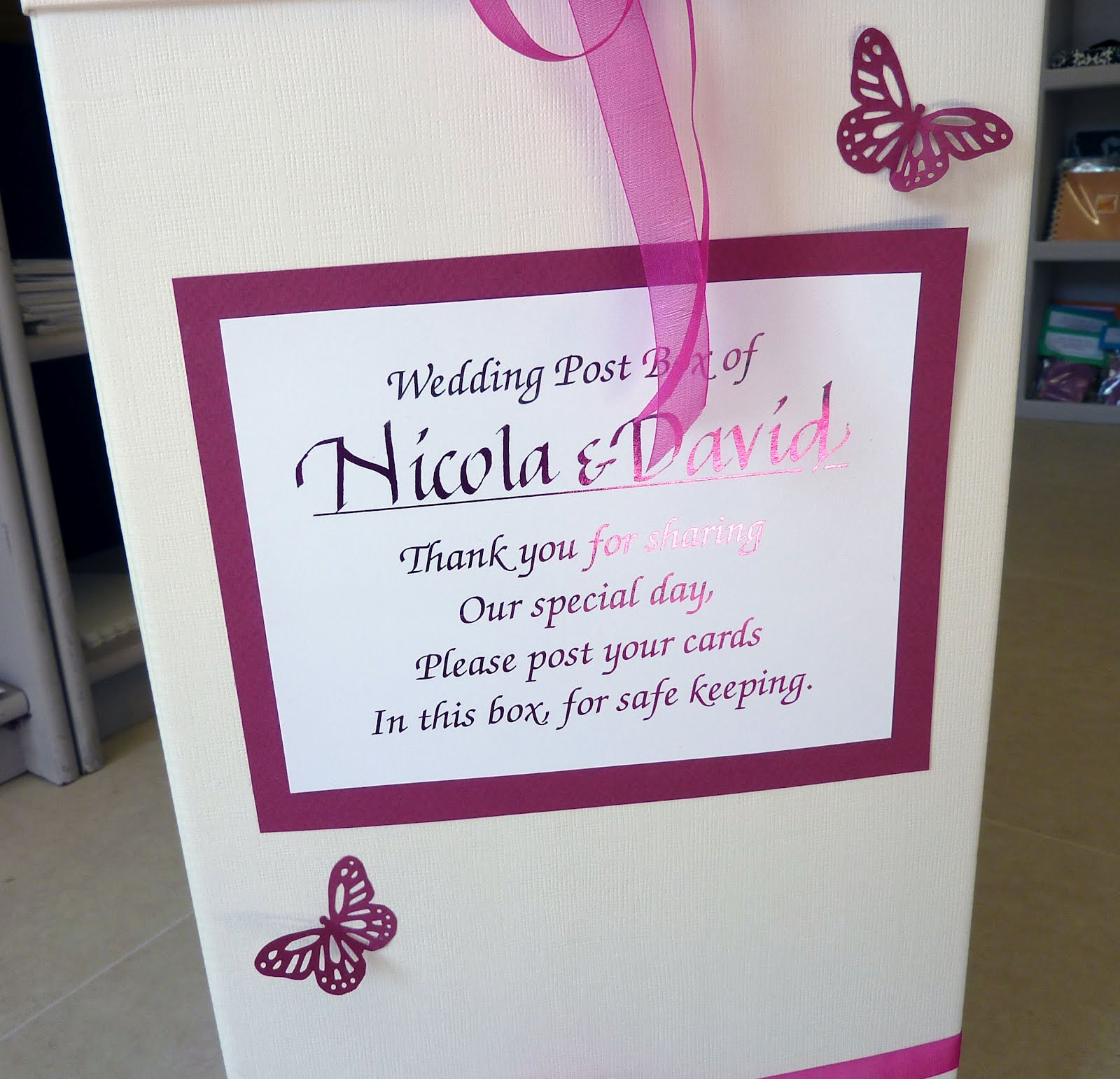 Inspired by Script FREE PRIZE DRAW Wedding Post Boxes