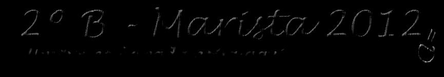 """2º """"B"""" - Marista 2012"""