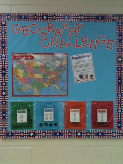 Geography Classroom Decor ~ Teaching with a touch of twang sports theme part two