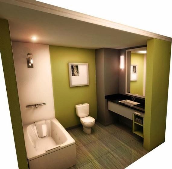 Desain Interior Kamar Mandi Minimalis Mungil Ukuran Kecil