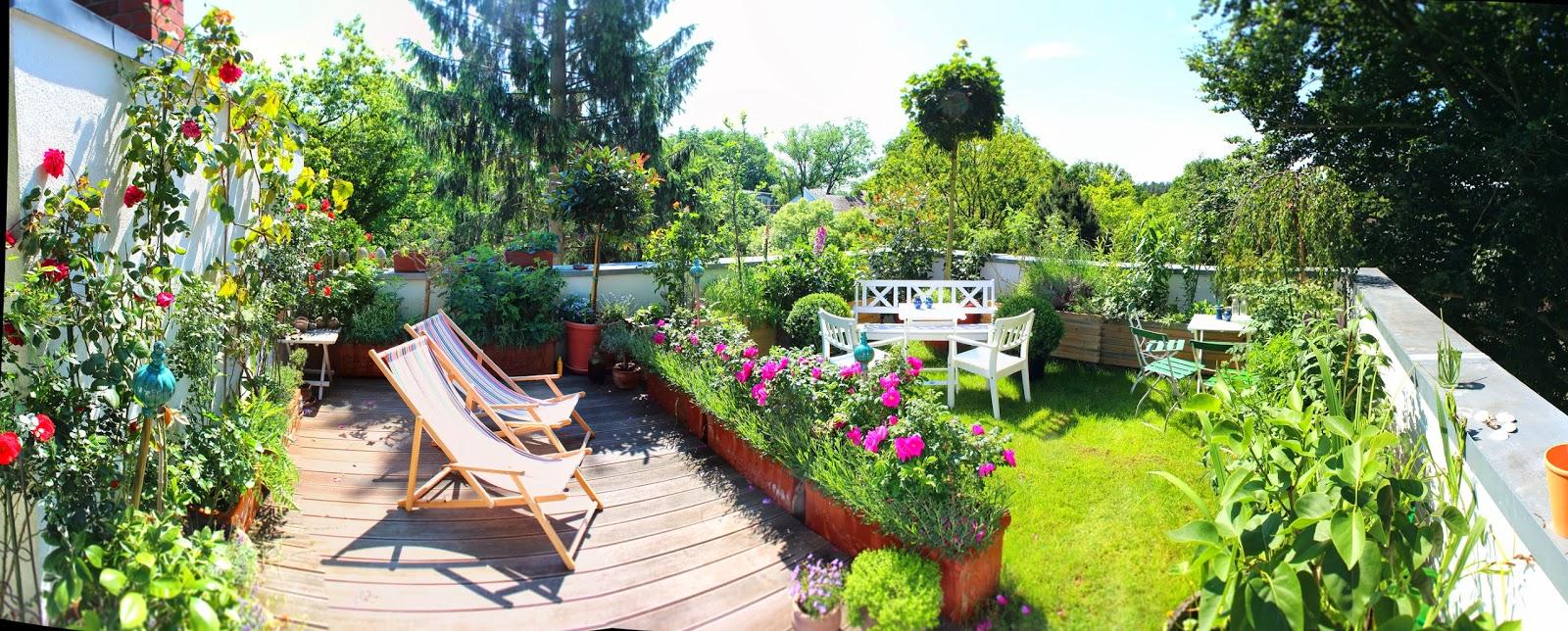 ein cottage-garten auf dem dach: schönes wetter., Gartengerate ideen
