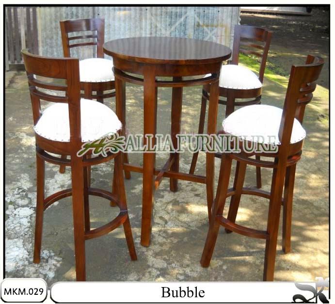 Kursi dan meja makan set Bubble