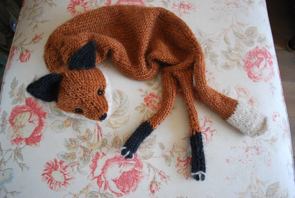 Knitting Pattern Fox Scarf : Knitting With Sandra Singh: Tiny Owl Knits Mr Fox Stole my Heart & M...