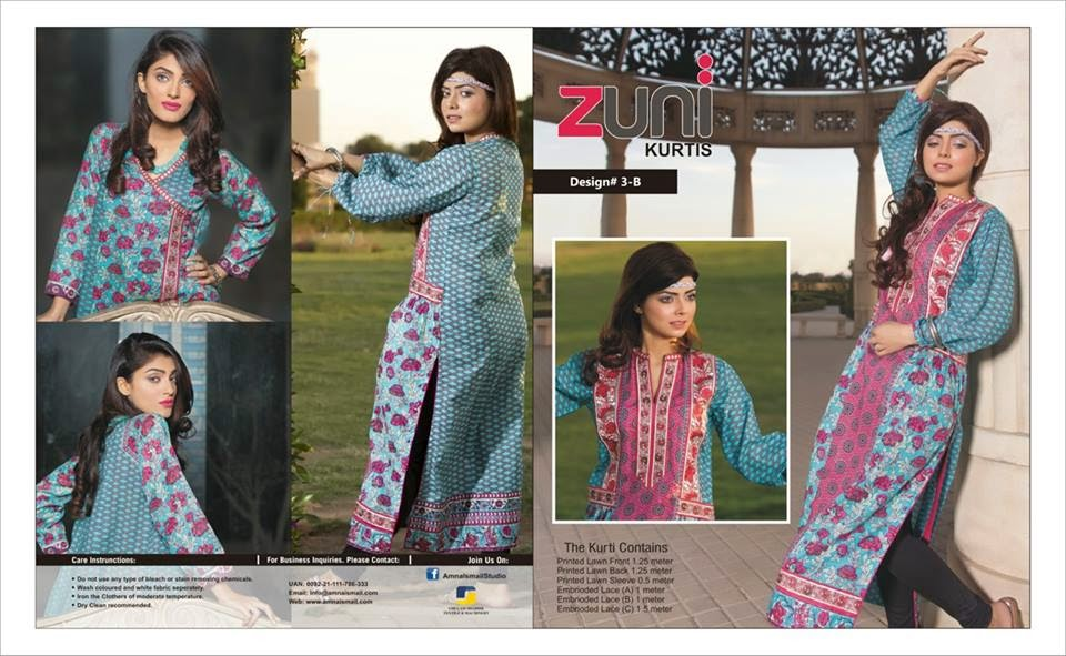 Latest Spring Kurti 2015 Collection