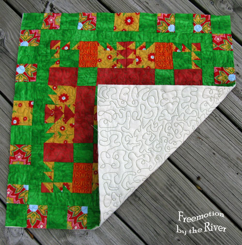 EQ7 Summer Drawing block quilted at Freemotion by the River