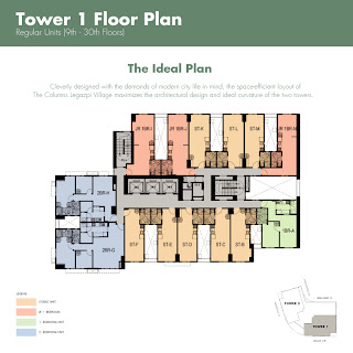 The Columns Makati Typical Floor Plan