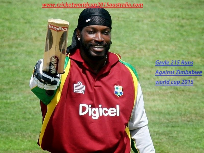 Chris Gayle 215 runs world cup 2015