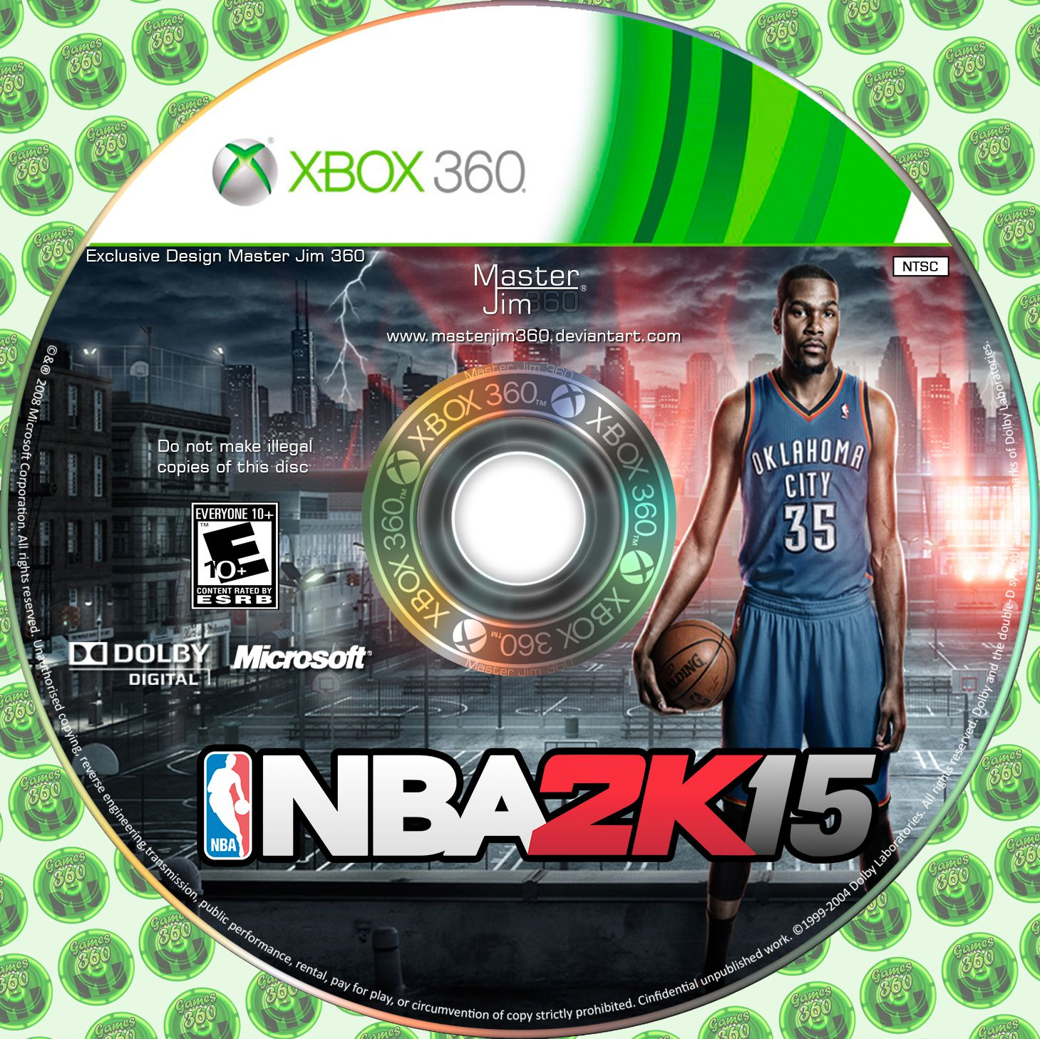 Label NBA 2K15 Xbox 360