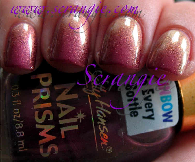 Sally Hansen Nail Prisms 39 Lilac Aqua I Can See But Not Really Sure Where The In Name Comes From It S A Shimmery Mauve Rose Pink Base