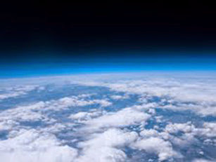 Picture of earth taken by the balloon camera