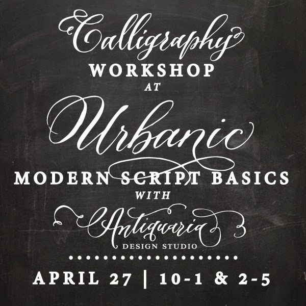 Antiquaria Calligraphy Workshop Urbanic Los Angeles