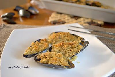 Cozze gratinate ricetta antipasti di pesce
