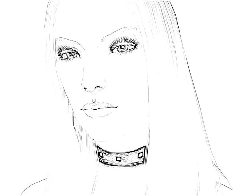 Printable Trish Face Coloring Pages title=