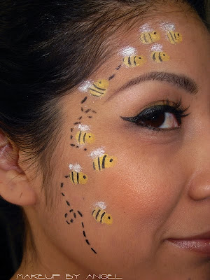 Bumble Bee Makeup http://froggistyle73.blogspot.com/2011/10/bumble-bee.html