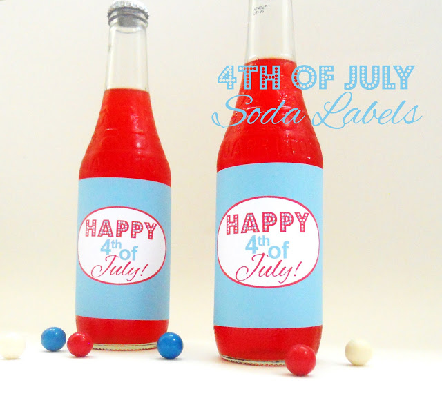 Fourth of July Printables: Festive Soda Labels and Straw Tags