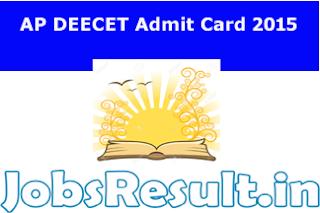 AP DEECET Admit Card 2015