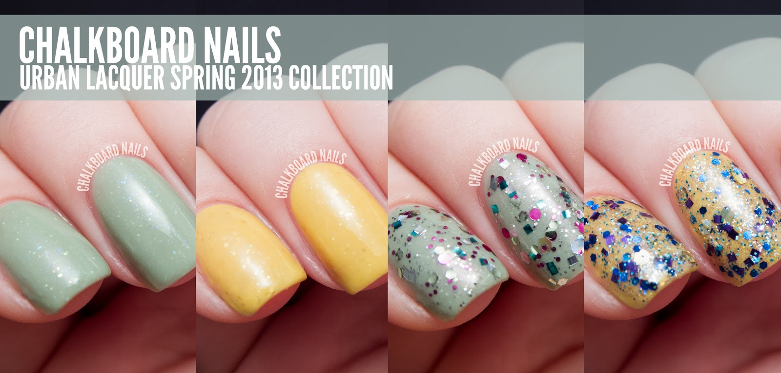 Urban Lacquer Spring 2013 Collection | Chalkboard Nails | Nail Art Blog