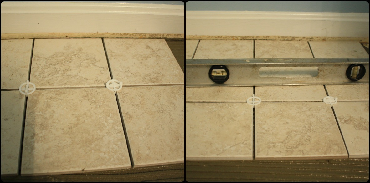 Level a floor for tile
