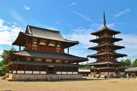 Five-storied pagoda of Horyuji Temple