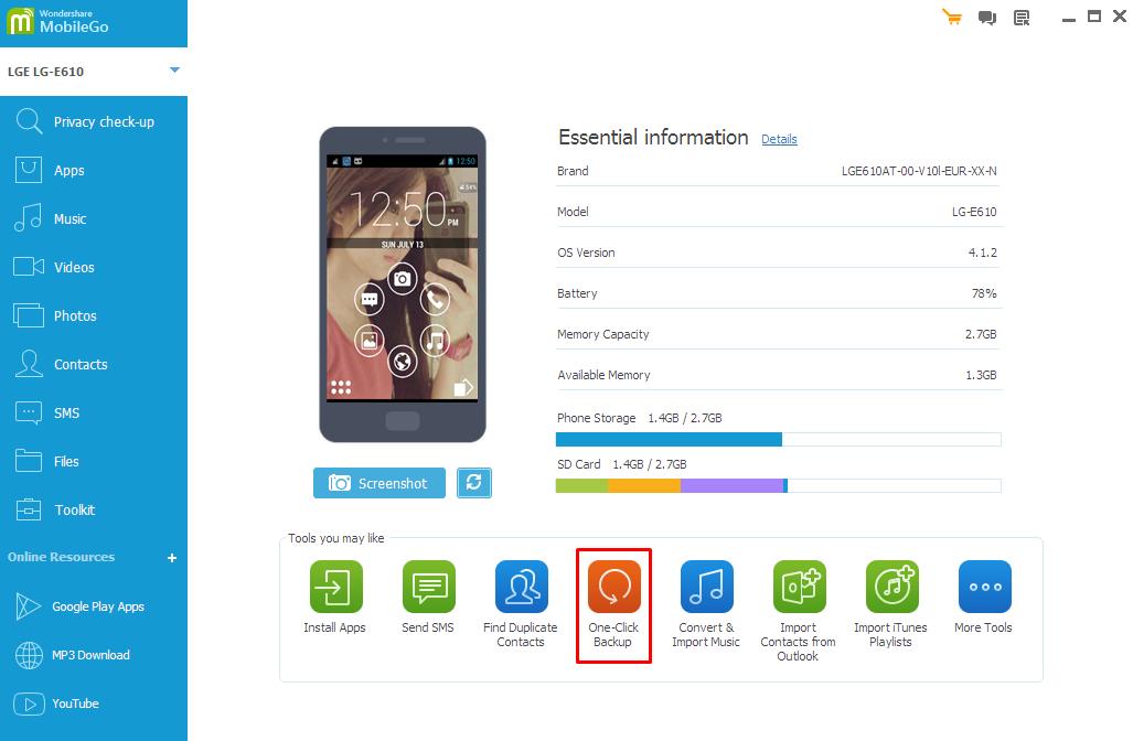Android Transfer - Backup dan Restore Android ke Komputer