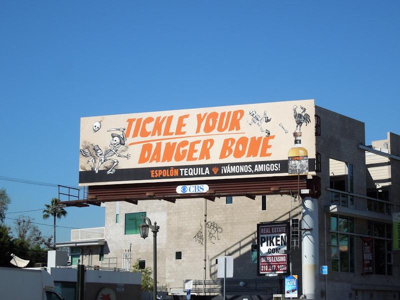 Espolon Tequila Tickle danger bone billboard