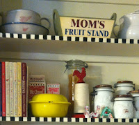 Retro kitchen makeover-add pops of color to bring out the charm.