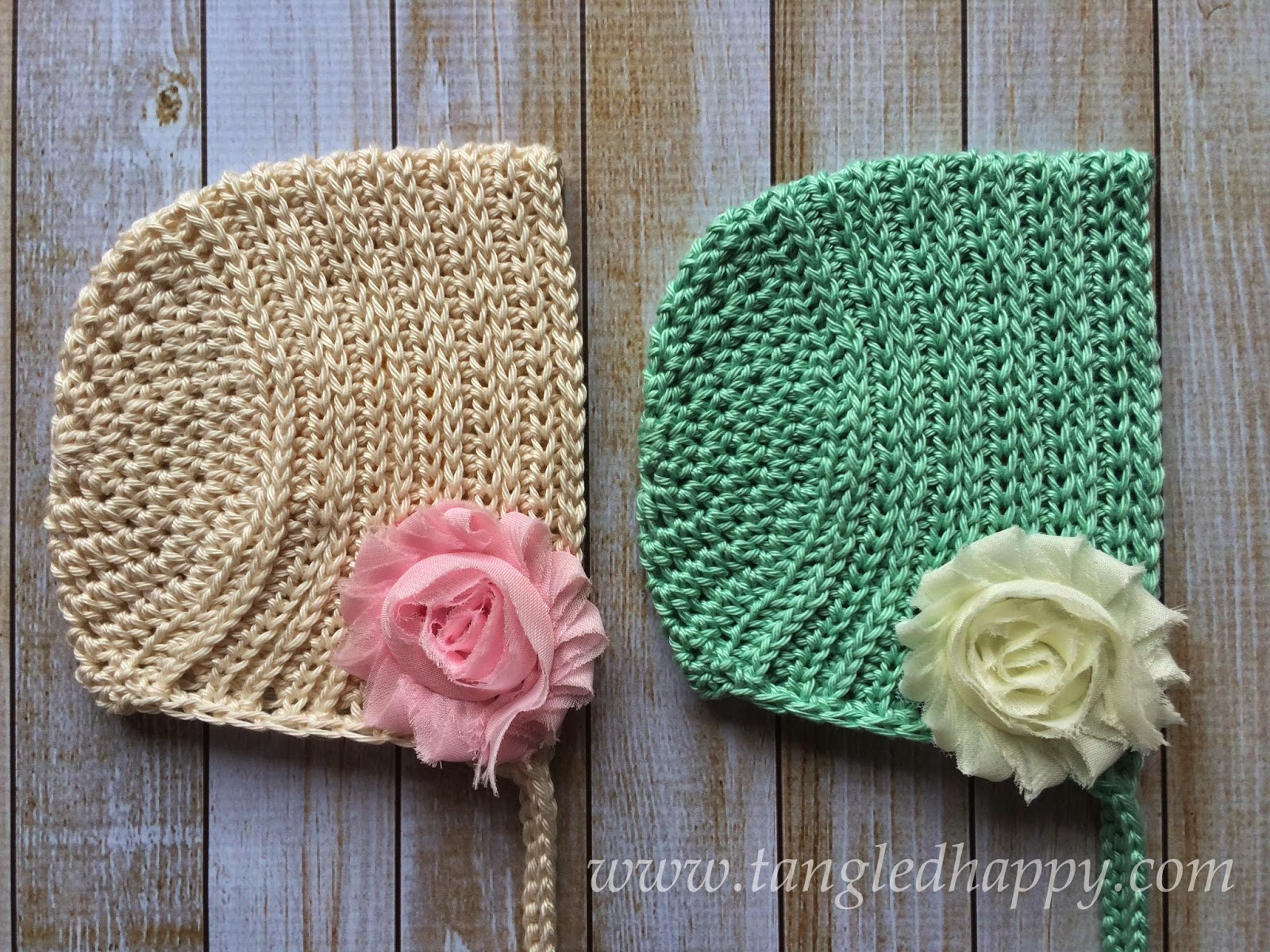 tangled happy: Ribbed Baby Bonnet 0-3 Months {Free Crochet ...