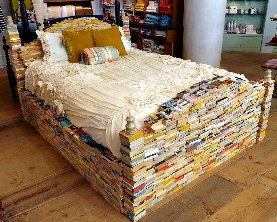 Cama de Livros, Bed of Books, Livros, Cama, Bed