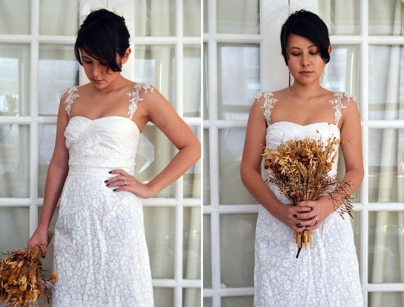 DIY Lace Wedding Dress