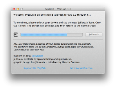 Tutorial for Jail Breaking iOS 6, 6.0.1 and 6.1 using evasi0n