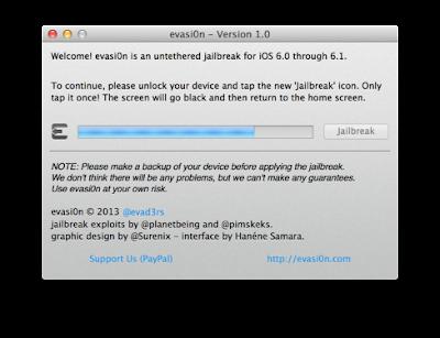 Tutorial for Jail Breaking iOS 6, 6.0.1 and 6.1 using evasi0n