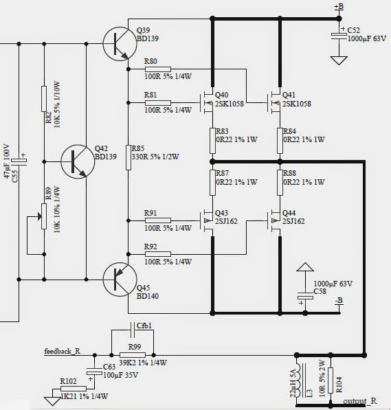 1000w audio lifier circuit diagram