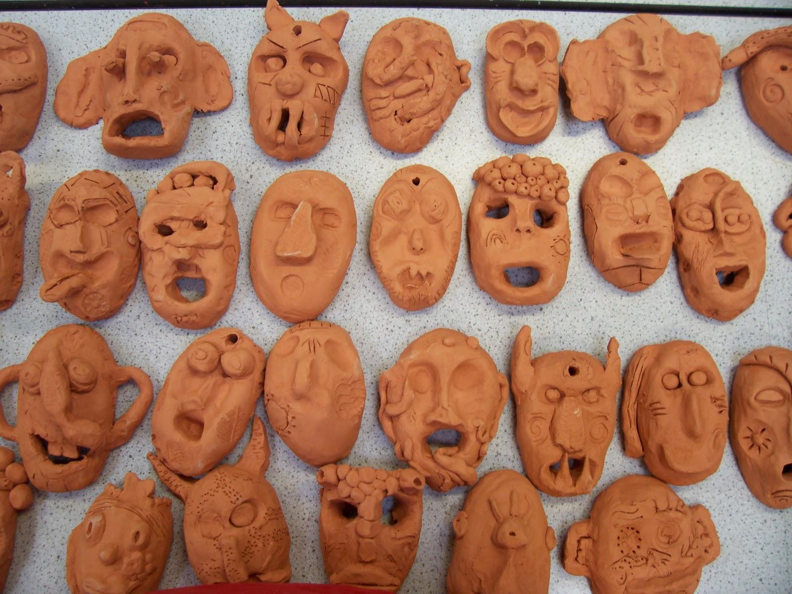Little Brick House Clayworks Aboriginal Art Masks School