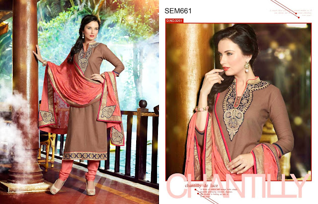 Simple Pure Cotton Embroidery Salwar Kameez