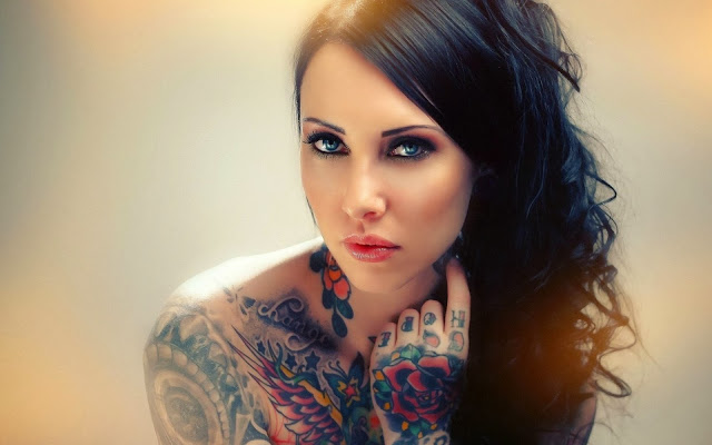 sexy girls, tattooed girls, inked and sexy, hot, wallpapers, tapandaola111