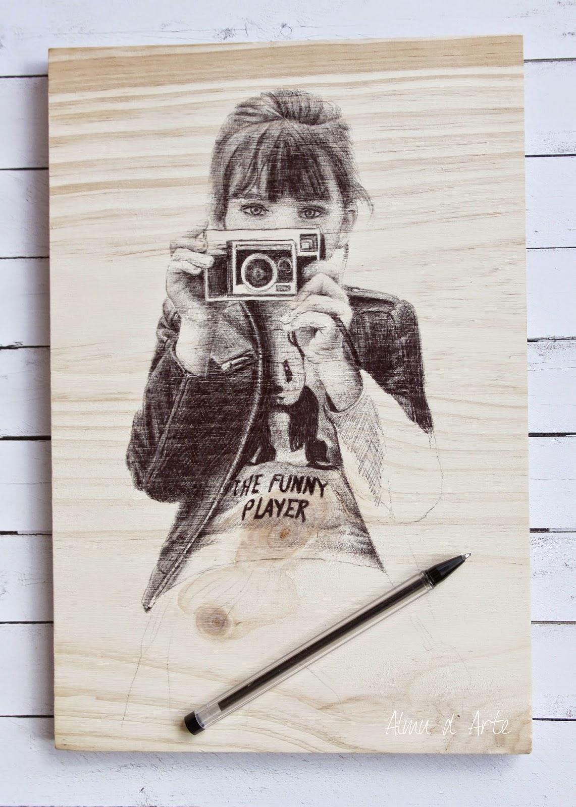 Retrato de una chica a bolígrafo
