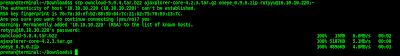 Upload file menggunakan scp