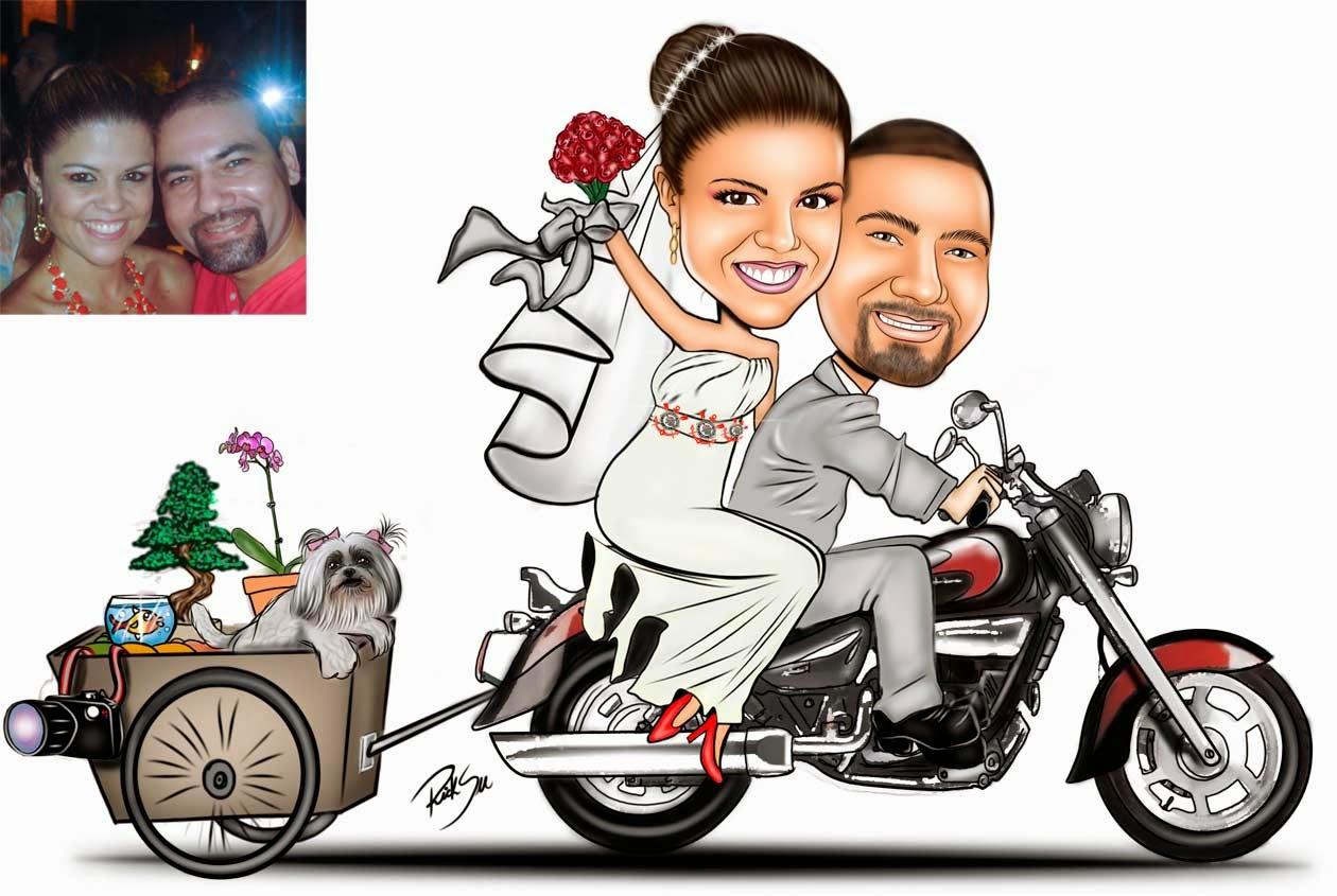 moto com carreta